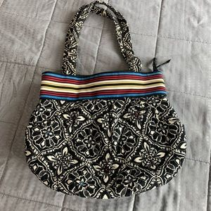 Vera Bradley Barcelona Print Black & White purse